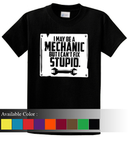 I May Be A Mechanic But I Can't Fix Stupid Funny Men's T-Shirt Size S-3xl - $19.00