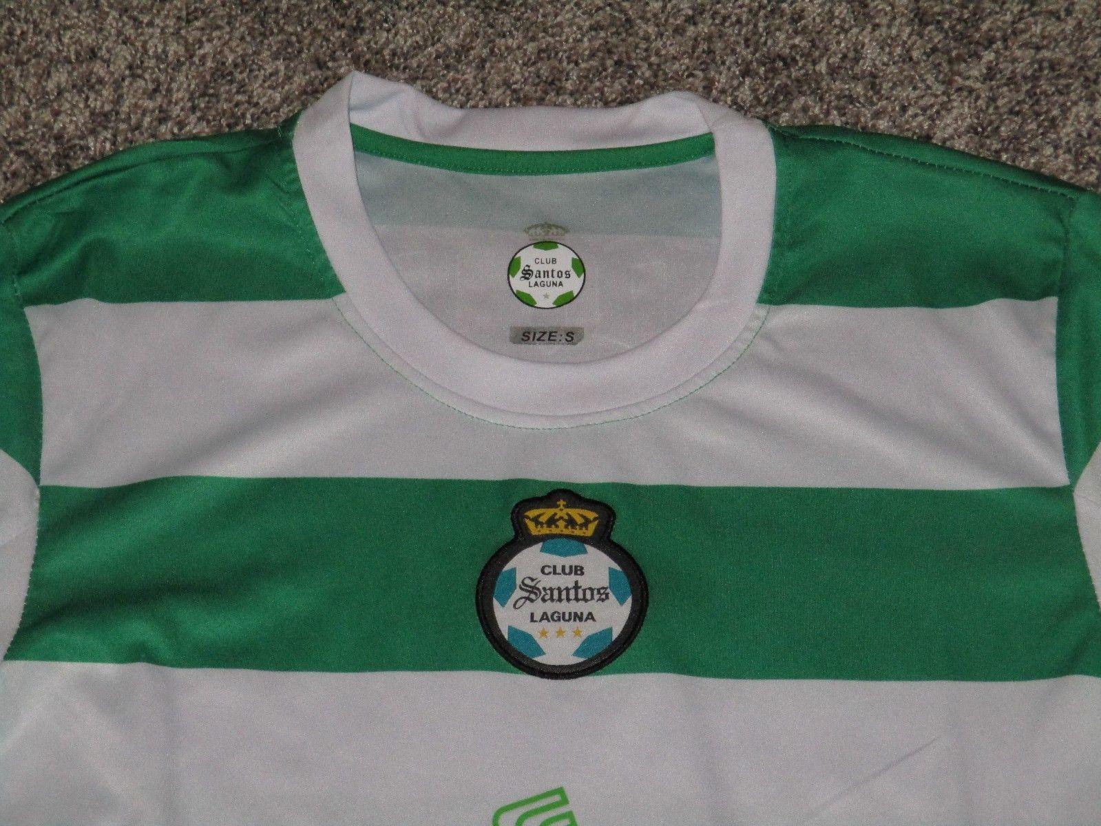 75d641f3c Club Santos Laguna Soccer Jersey Soriana Corona, Men's Small, Green & White