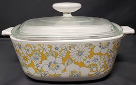 Vintage Corning Ware Floral Bouquet 2nd Edition P-1 1/2-B Gift Line 70-71 - $42.00