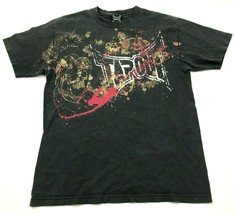 VINTAGE Tapout Shirt Size Medium M Black Short Sleeve Double Sided Tee A... - $17.83