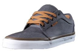 New Vans Unisex Chukka Low Denim Pewter White Skate Shoes Mens 8.5 Womens 10 - $59.99