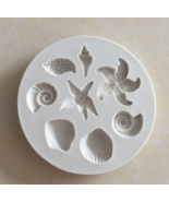 Sea creatures conch starfish shell flip cake silicone mold DIY chocolate... - $9.99