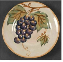 """Napa by Tabletops Unlimited 9"""" Salad Plate Tabletops Gallery Red & Purpl... - $13.09"""