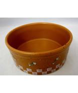 "Cat Kitty Ganz Feeding Dish Bowl 4"" Pottery Brown White Splatter Paint F... - $22.50"
