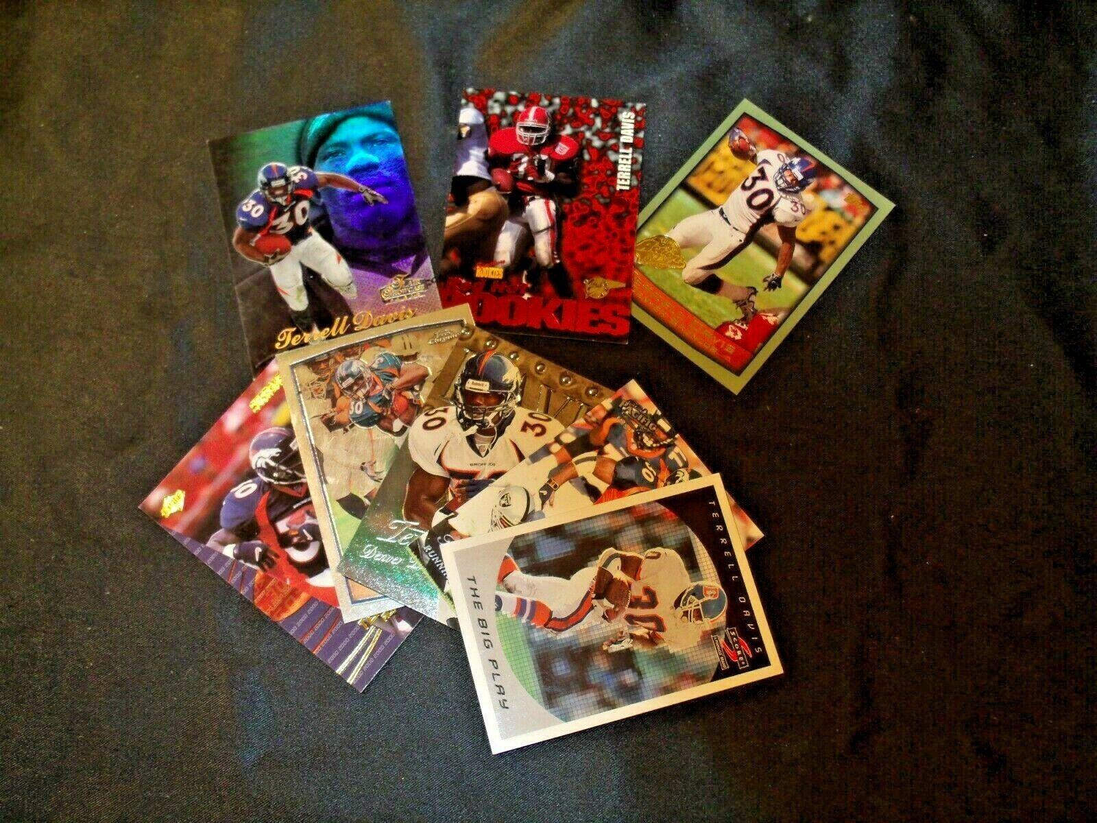 Terrell Davis RB Denver Broncos Football Collectible Trading Cards AA-19FTC3008