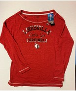 NEW adidas Louisville Cardinals - Women's Red Clima-lite Long Sleeve Shi... - $17.82