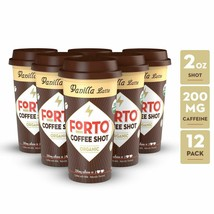 FORTO Coffee Shots - 200mg Caffeine Vanilla Latte Ready-to-Drink on the ... - $28.92
