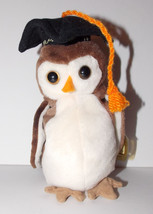 Ty Beanie Baby Wise Plush Graduation Owl 6in Stuffed Animal Retired Tag ... - $9.99