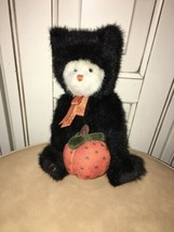 Boyds Bear Black Cat Costume Halloween Pumpkin Retired - $58.05