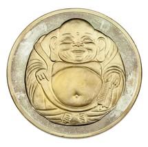 12oz Plata Fina Collecable Redondo Buda / Lotus Diseño Flores Dos Tono A... - $514.56