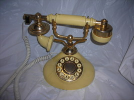 Phone,Boudoir style,Regal French touch tone,bone colored - $19.95