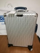 FENDI X RIMOWA Authentic Aluminum Suitcase FF BLUE Carry On New Made in ... - $4,799.99