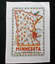 Minnesota Hot Dishes Tea Towel Keep The Faye Souvenir Foods - $12.86