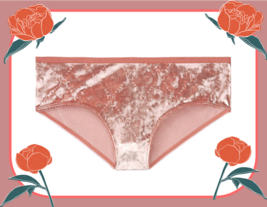 M Lgt Rose Blush FULL VELVET RARE Victorias Secret LOGO VS STAR Hiphugge... - $12.50