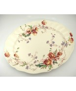 "Vintage Royal Doulton Sherborne 13"" Oval Serving Platter Scalloped Very ... - $29.69"