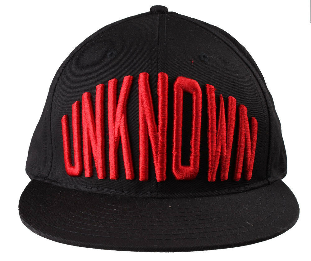 Entree Lifestyle Unknown Black Red O/S Snapback Flat Brim Hat Baseball Cap