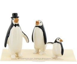 Hagen Renaker Miniature Bird Penguin Family Papa Mama Baby Ceramic Figurines image 1