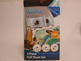 Disney Moana Full Size Bed Sheet Set 4 Piece Bedding Sheets - $31.95