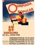 4656.Olimpiada popular.barcelona.people hold flag.POSTER.decor Home Offi... - $10.89+