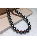 "AAAAA long 20"" 12-13mm Natural REAL TAHITIAN black GREEN pearl necklace ... - $785.92"