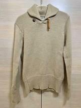 VISVIM Kint Sweater Concho 100% Wool Men's Size 2 Beige Tone Genuine Fro... - $343.00