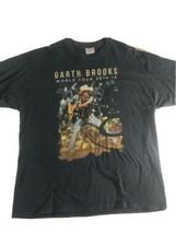 Hanes Garth Brooks World Tour 2014 Men's XXL T Shirt Black Cotton - $33.59