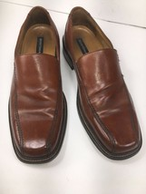 Bostonian Men's Loafers Size 8 M Leather Slip On Brown Casual Dress Shoes - $38.87