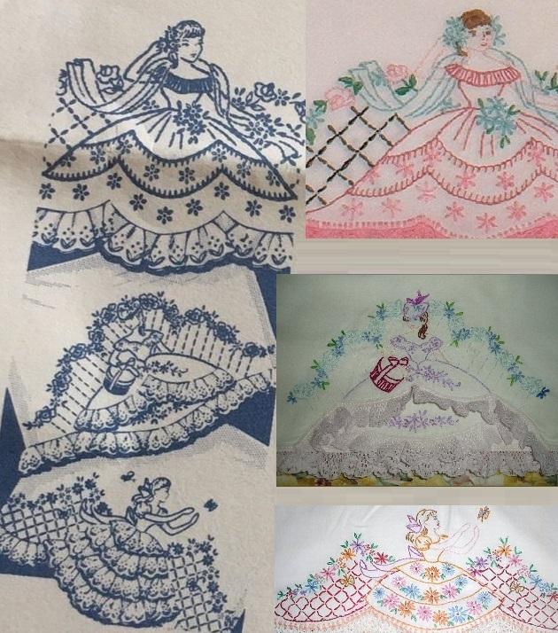 Eyelet pillowcase southern belle transfer pattern