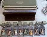 Avon American Fashion Thimble Silhouettes Porcelain 1982-1984 Complete Set Used