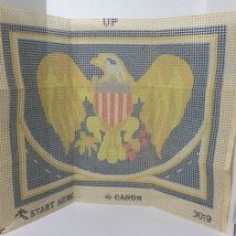 "Vintage Caron Latch Hook U.S. Eagle Canvas Only 20""x27"" - $29.45"