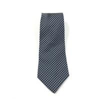 Tommy Hilfiger Vintage Neck Tie Blue Yellow Check Plaid 100% Silk - $18.23