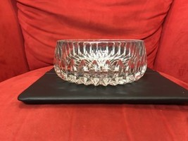 "Lead Crystal Fruit/Console Bowl 7"" ornate - $58.79"