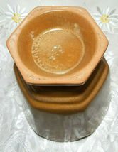 """VINTAGE FRANKLIN RUST BROWN VASE POTTERY SIGNED Approx 6 1/2"""" X 5 1/4"""" x 5 1/4"""" image 8"""
