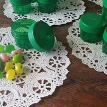 9 Plastic Green Jars Green Caps 1/2oz 1Tblsp Herbs Spice Pills tkdecojars - $16.83