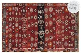 "$2600.00  Persian Sumakh Kelim Kilim Sanandaj Sane  Wool Rug  5' 5"" x 8' 8"" - $1,286.01"