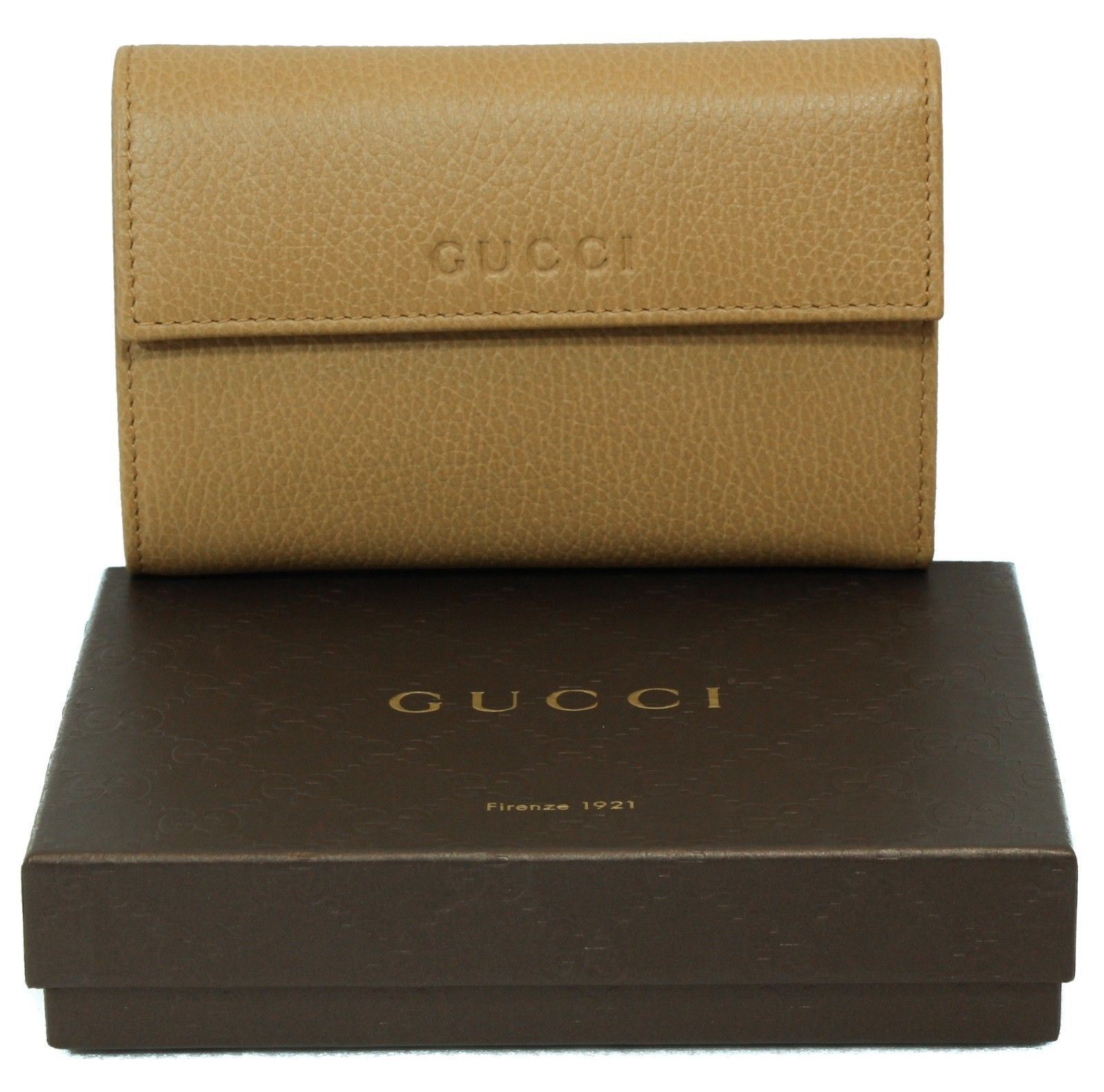 655c2472aa7 GUCCI 346057 Leather French Wallet