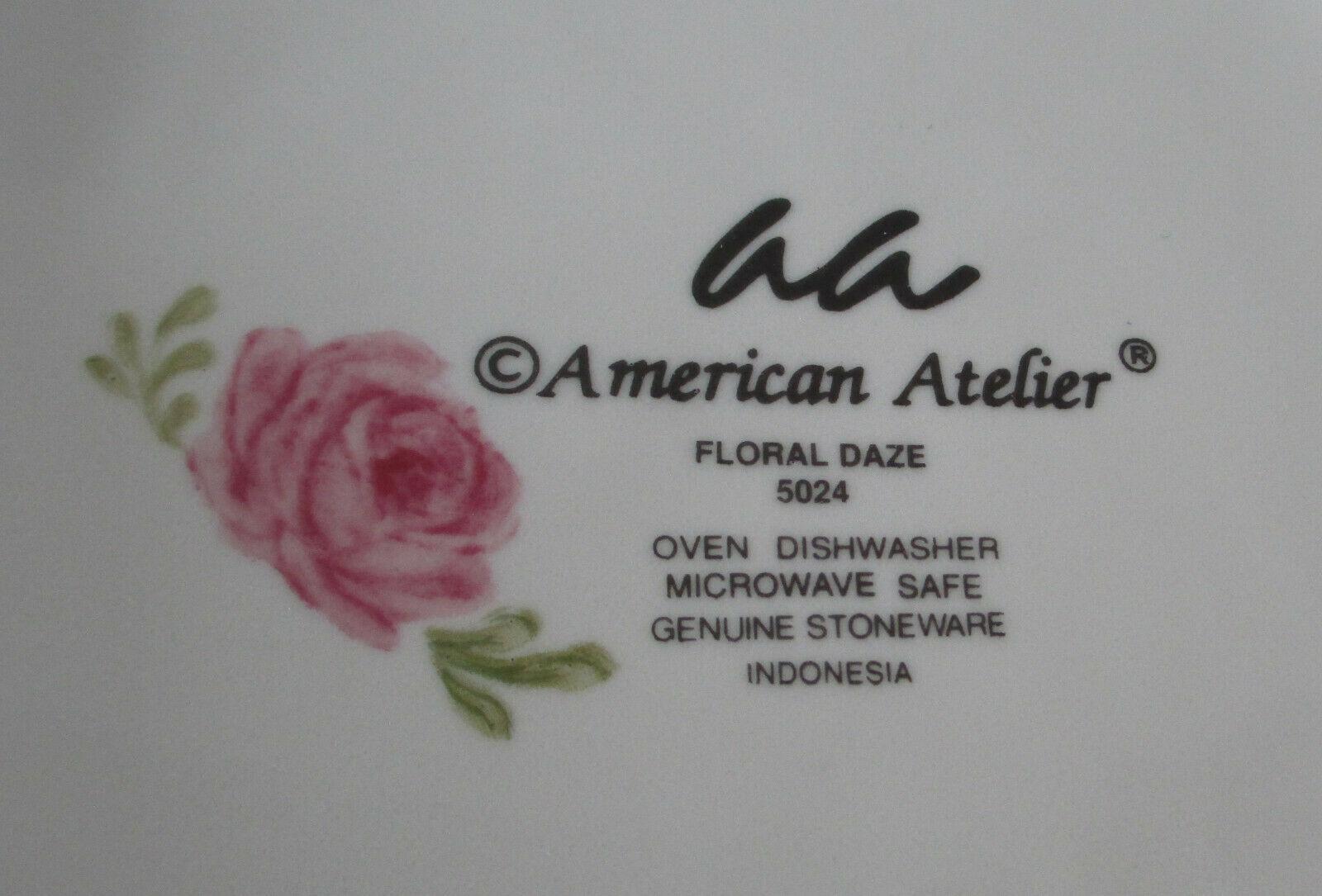 American Atelier 5024 Floral Daze Salad Plate set of 4 image 8