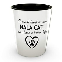 An item in the Pottery & Glass category: Nala Cat White Ceramic Shot Glass Trendy Animal Lover Gifts