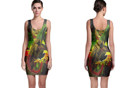 Rasta colored Iguana Bodycon Dress - $19.60+