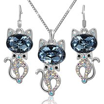 Bella Gifts for Women Pendant Necklace and Stud Earrings Fashion Jewelry... - $69.95