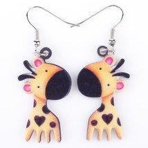 Long Drop Brand Lovely Giraffe Earrings Acrylic New 2015 Jewelry For Gir... - $9.19