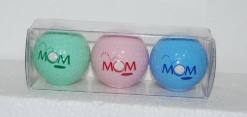 Enjoy Life Inc Special Occasion Golf Balls MOM Green Pink Blue 3 Set