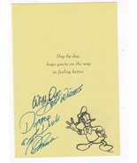 """TONY ANSELMO VOICE OF DONALD DUCK SIGNED GET WELL CARD """"RARE: - $22.42"""