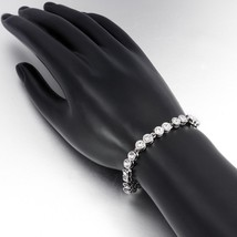 Made with Swarovski Crystals 14K White Gold Plated Tennis Bracelet - $12.73