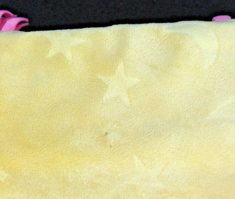 Disneyland Disney Babies Blanket for Dumbo Plush Blue Pink Yellow Fringe Wrap image 8