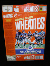 General Mills Whole Grain Wheaties Cereal Box 1991 NFL Champions New Yor... - $16.99