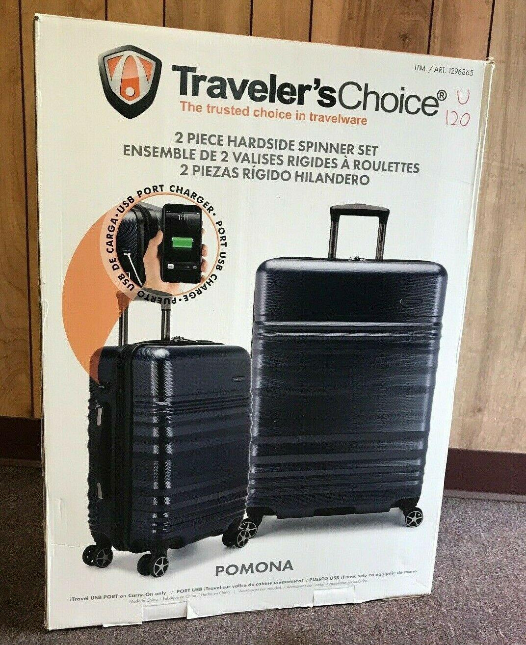 Travelers Choice Halow 3-piece Hardside Spinner Set gray