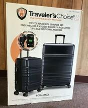 Travelers Choice 2 Piece Set Hardcase Suitcase Luggage Navy - $109.99