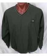 USNA Annapolis Navy Green Pullover Long Sleeve Jacket Windbreaker Coat XXL - $31.97