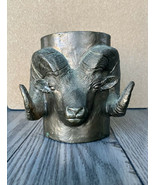 Carl Wagner Mountain Bighorn Ram Bronze Cup Mug Stein Signed C Wagner, 4... - $418.88